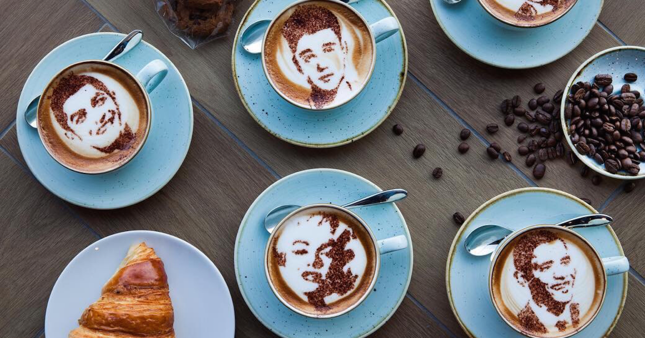 coffee art at Tub of Butter Dubai