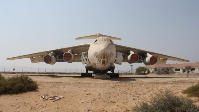 uae road trips from dubai places to visit in uae abandoned plane in umm al quwain il-76 ilyushin