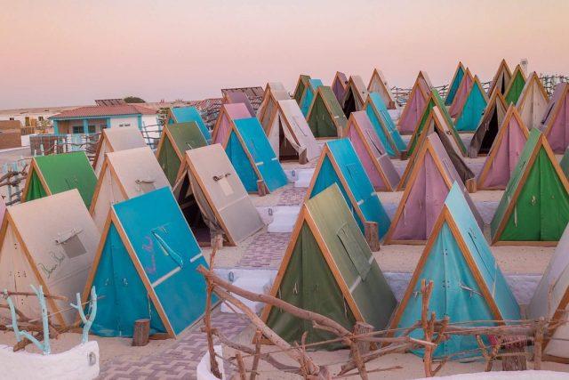 camping in dubai - banan beach dubai jebel ali uae