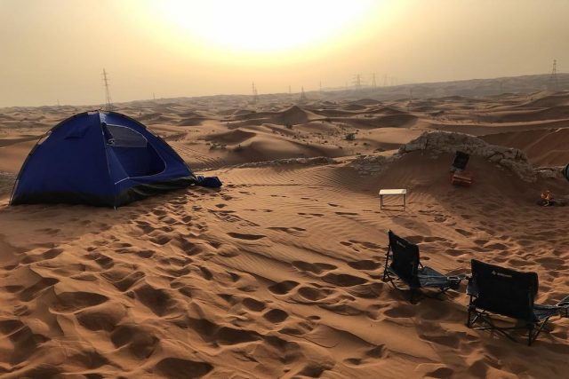 camping in uae - fossil rock sharjah jebel maleiha