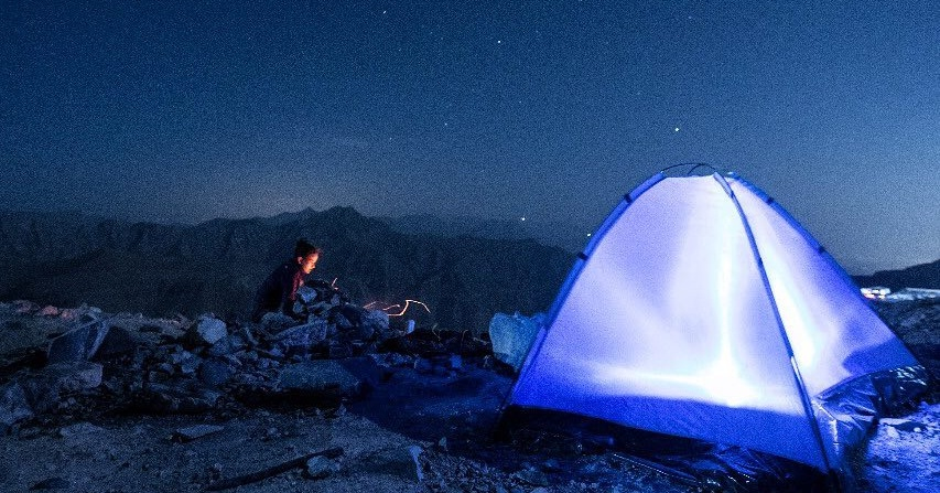 camping in uae - jebel jais camping site ras al khaimah