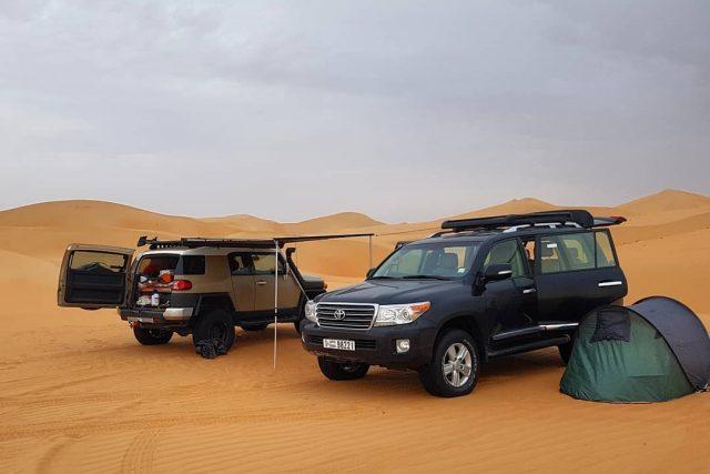 camping in uae - liwa desert