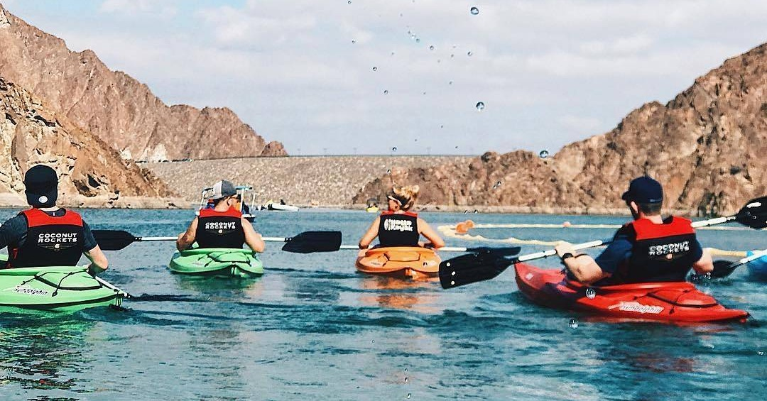 dubai adventures - kayaking at hatta dam mariamleto