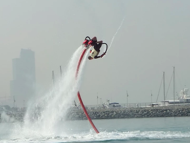 water sports in dubai - flyboarding