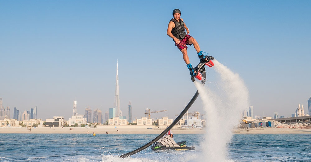 flyboarding in dubai extreme water sports in dubai - searide dubai