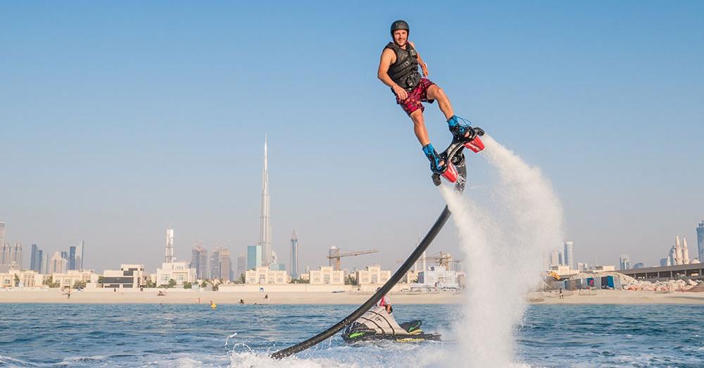 flyboarding in dubai extreme water sports in dubai - searide dubai