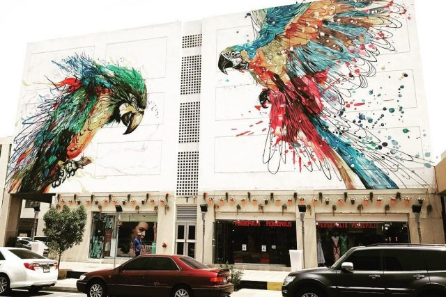 free things to do in old dubai on a budget - street art in karama