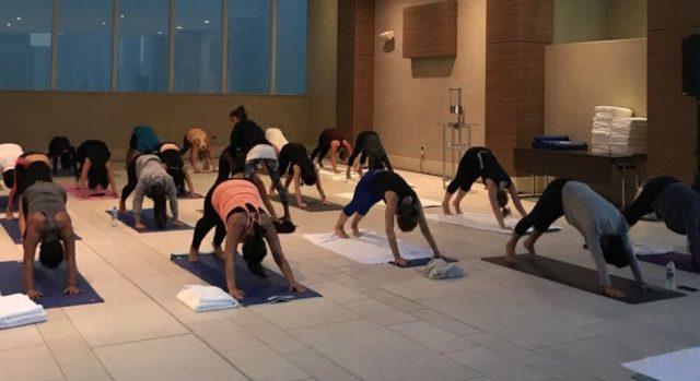 full moon yoga dubai - yoga classes in dubai - sheraton grand hotel