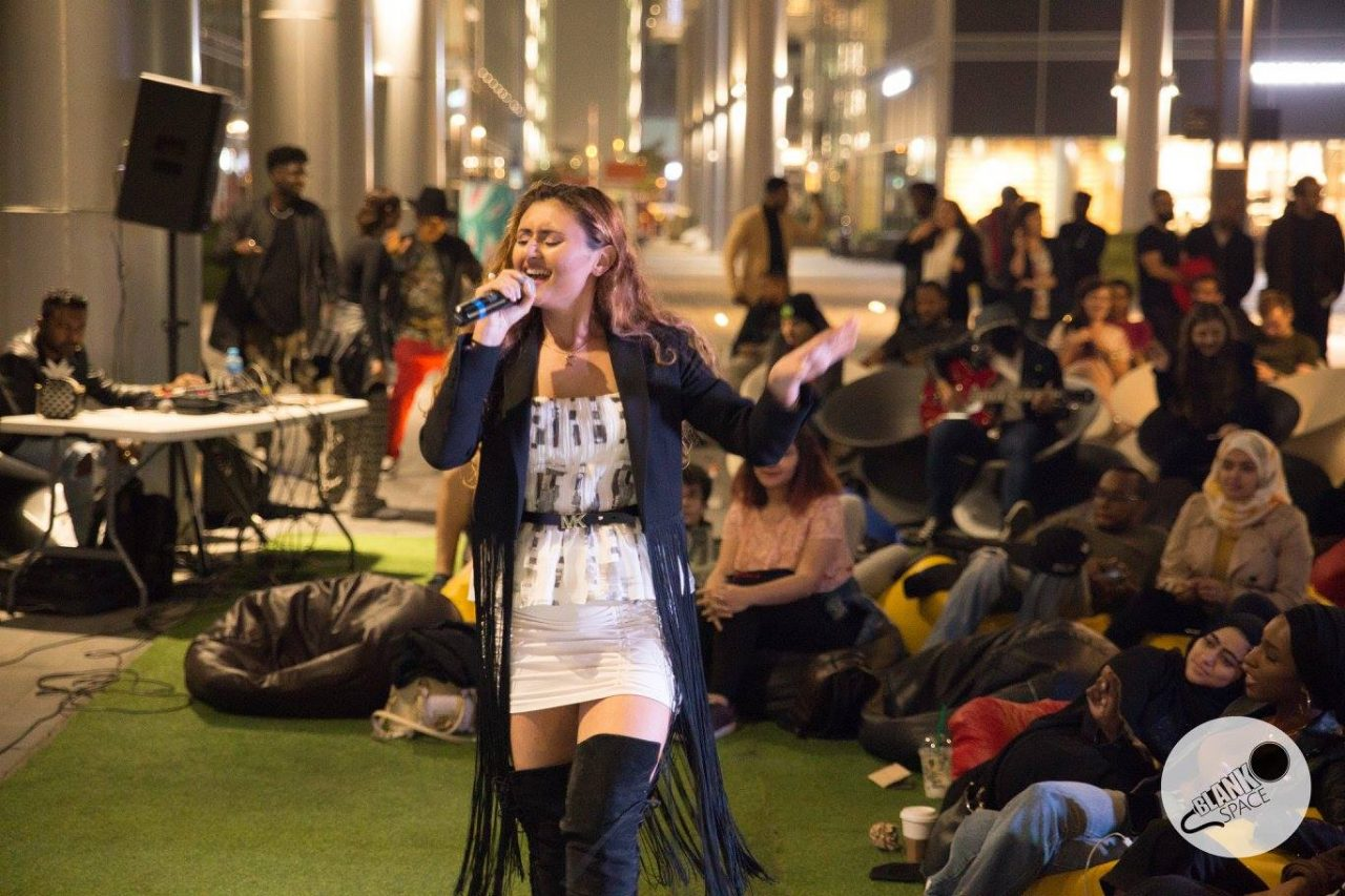 live music dubai events - blank space open mic