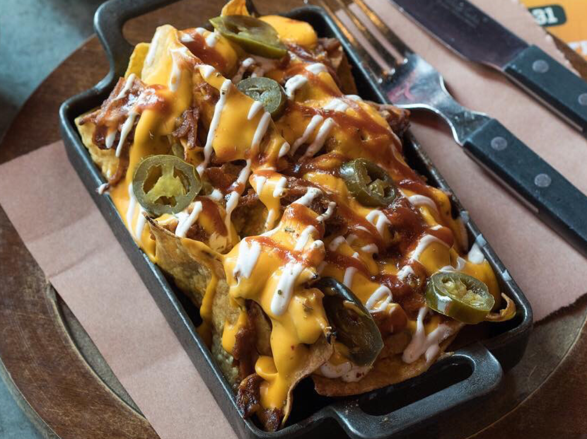 Texas BBQ Nachos at Perry & Blackwelder's