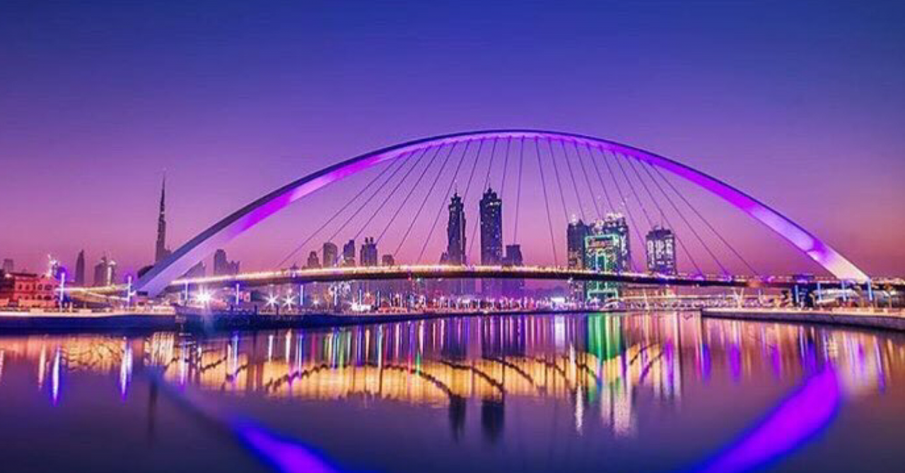 places to visit in dubai landmarks - dubai water canal tolerance bridge Cropped
