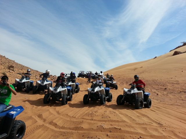 quad biking in dubai desert safari