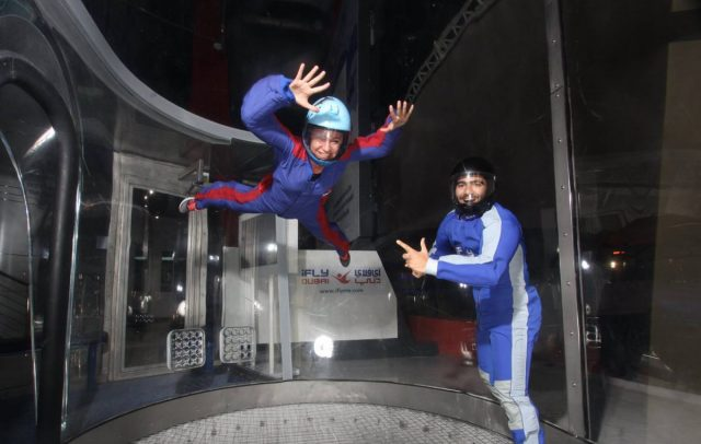 things to do in mirdif city centre - ifly dubai