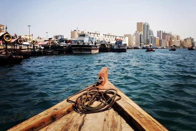things to do in old dubai on a budget - abra ride at dubai creek