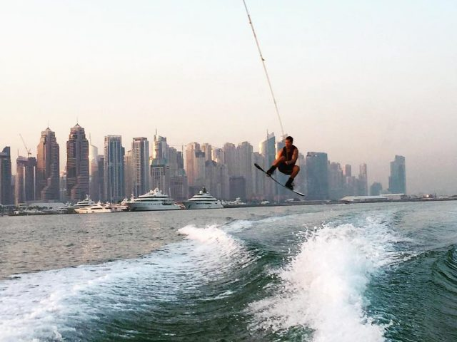 water sports in dubai - wakeboarding wakesurfing
