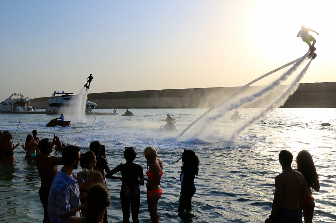 water sports in dubai - flyboarding Cropped