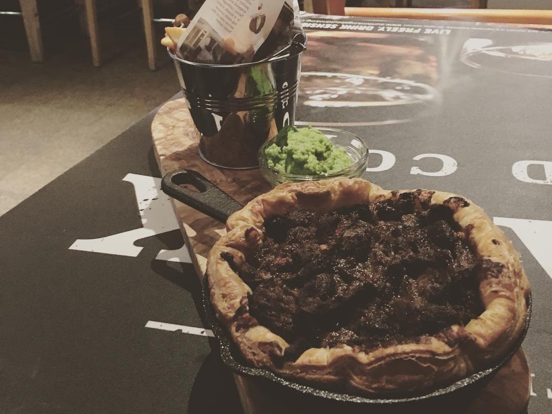 Steak & Ale Pie at The Underground