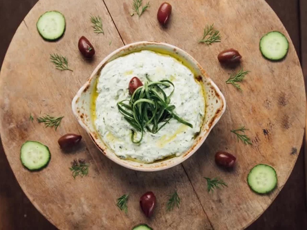 Greek food in Dubai: Tzatziki at Eat Greek Kouzina