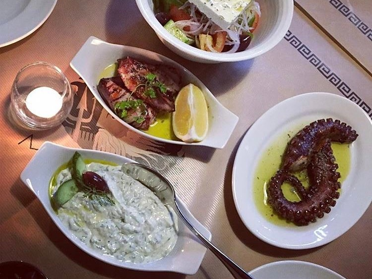 Greek food in Dubai: Tzatziki at Mythos Kouzina & Grill