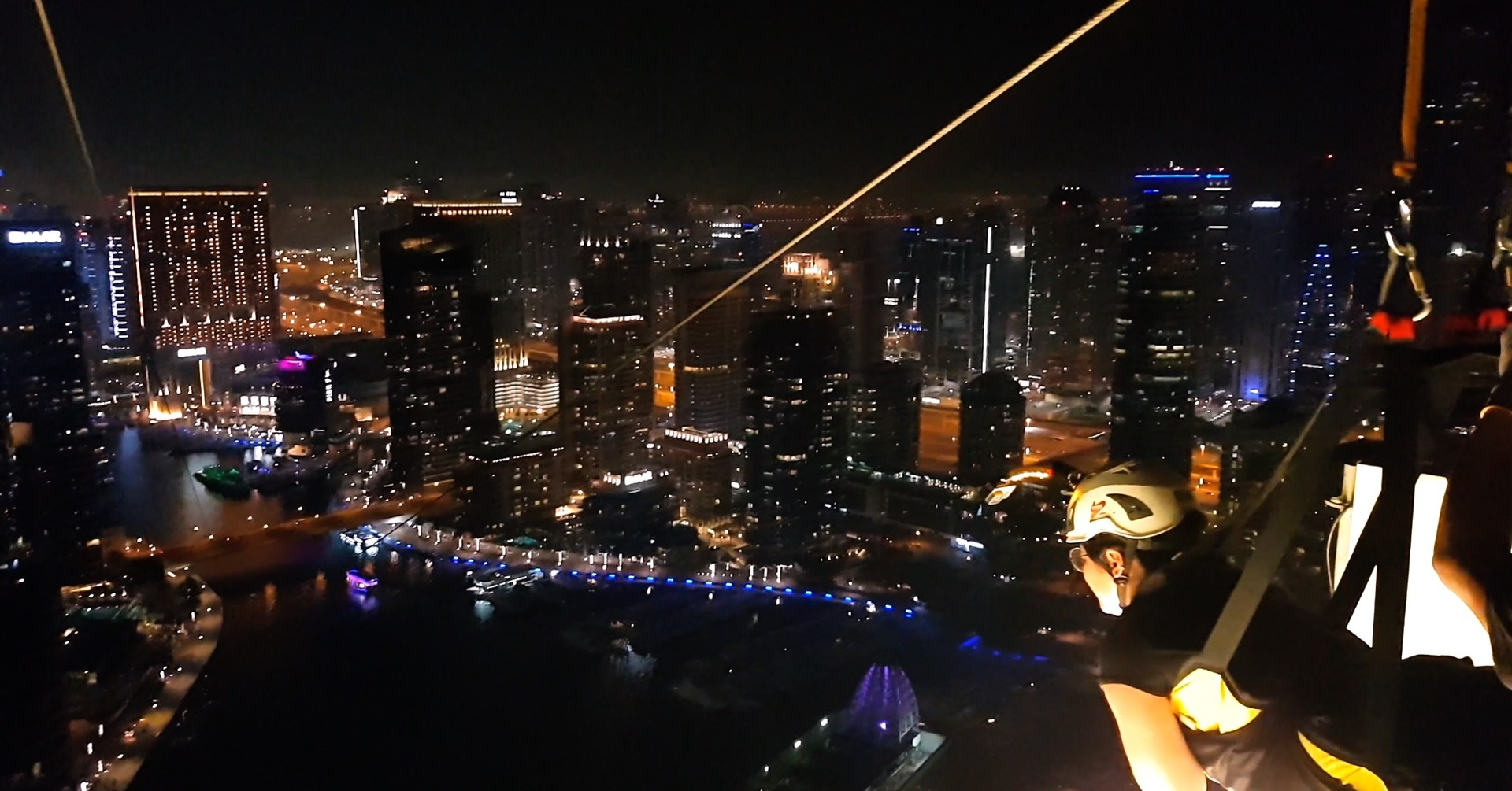 A skyline XLine view of Dubai Marina night rides for Ramadan 2018