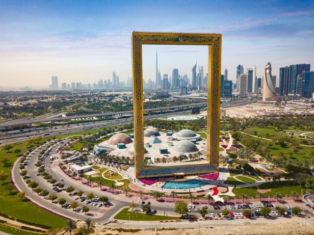 best view of dubai landmarks - dubai frame