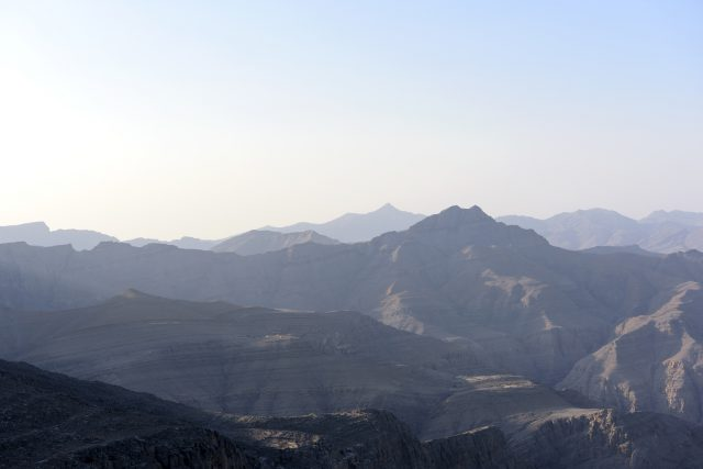 Morning View of Jebel Al Jais Mountain in United Arab Emirates,
