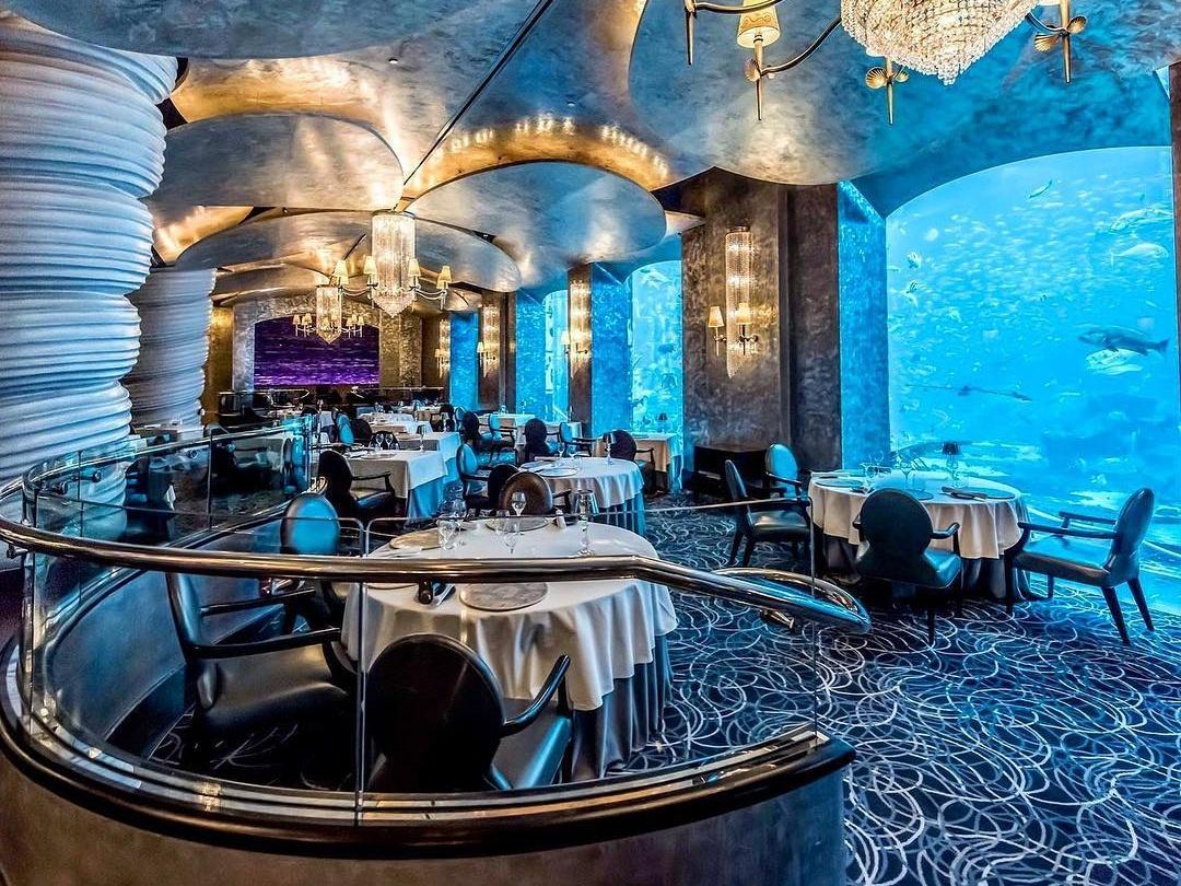 Dine underwater at Ossiano at Atlantis Dubai on Palm Jumeirah