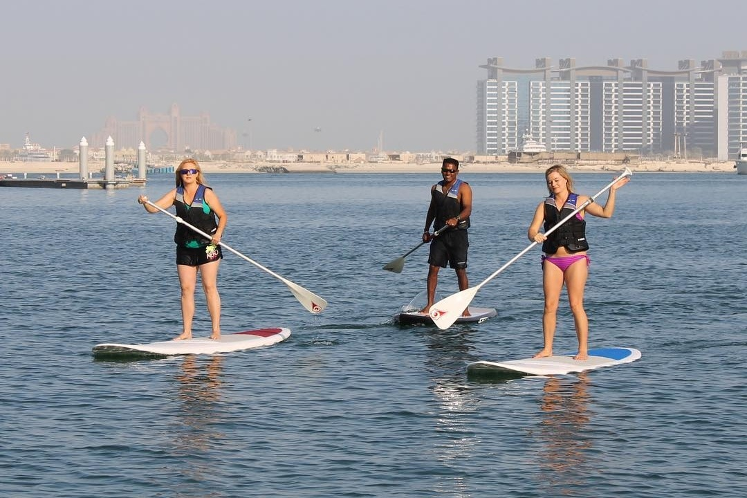 stand-up-paddle-at-dimc-dubai-things to do in new dubai