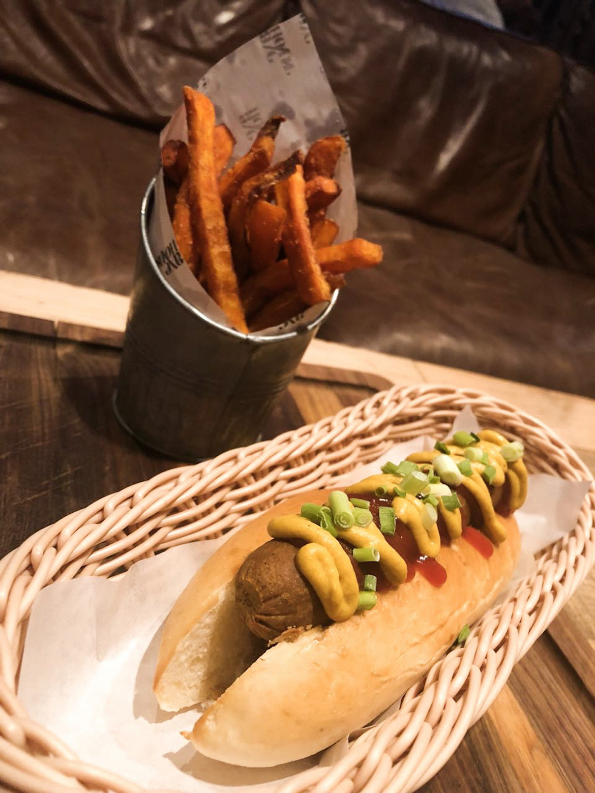 Veggie Dog at Axe House