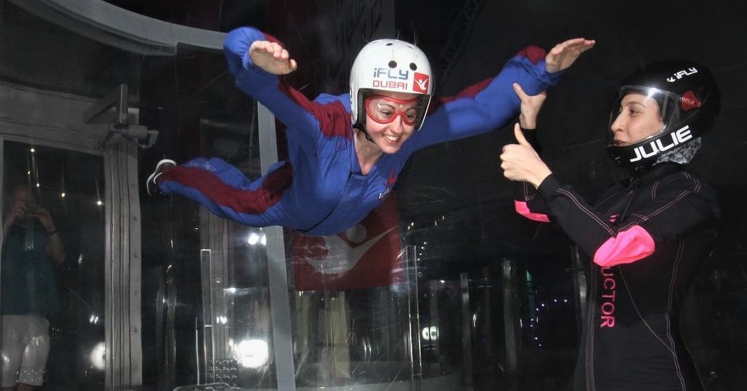 indoor adventures in dubai - ifly dubai
