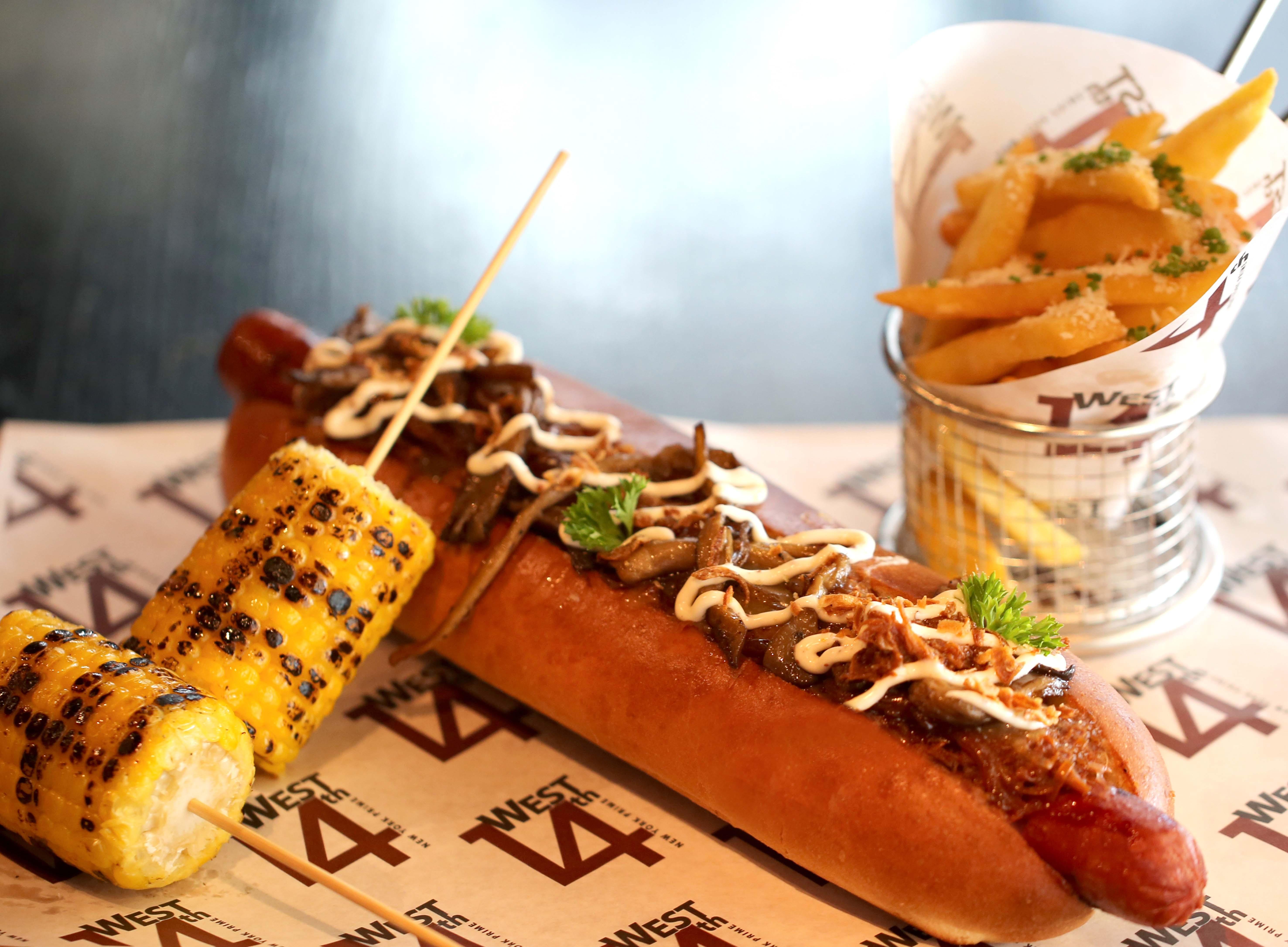 Smoked Rib Hot Dog at West 14th