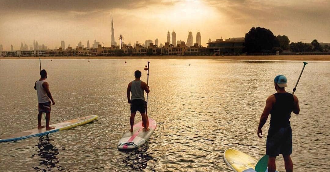 dubai fitness challenge - free things to do - stand up paddle boarding