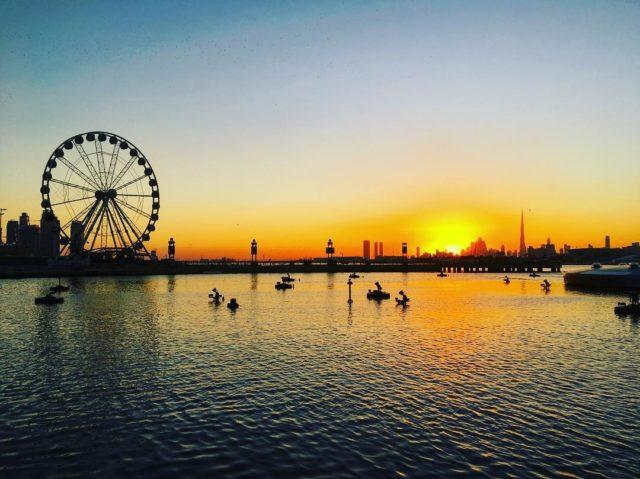 sunsets-in-dubai-dubai-festival-city-mall